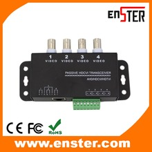 Enster 4CH Passive HD transceiver,Receiver RJ45 UTP Video Balun For HDCVI/HDTVI/AHD CCTV Camera