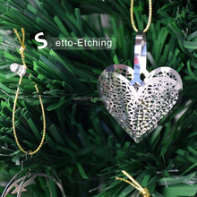 Wholesale etching metal hanging ornaments