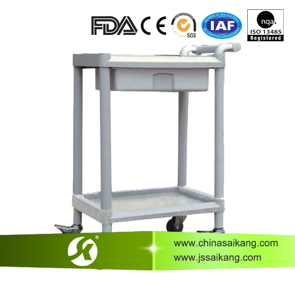 SKR002A Hot!! Cheap Practical Multifunctional Hospital ABS Utility trolley with Drawer, Medical Treatment Trolle , Saikang