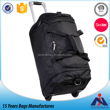 23 Inch Rolling Travel Duffel with Retractable Handle travel rolley suitcase
