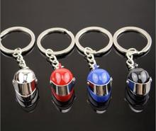 New design Helmet key chain motorcycle Helmet keychain 3D car bicycle key ring for car purse bag best gift