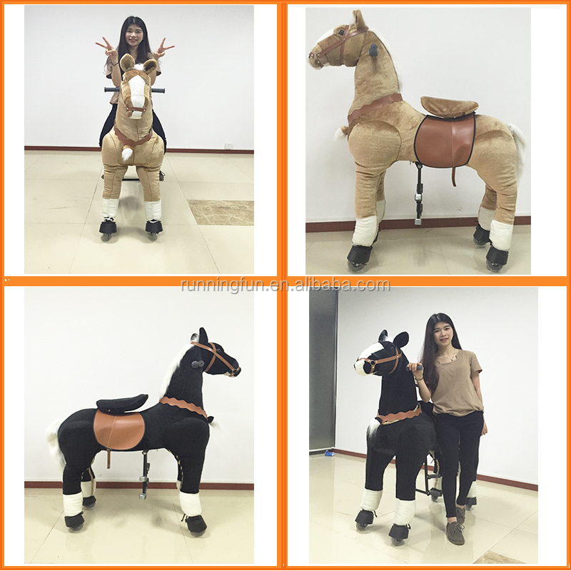 Top sale CE/EN71 riding plush walking mechanical horse toy,ride on toy horse for kids,rocking horses for adults