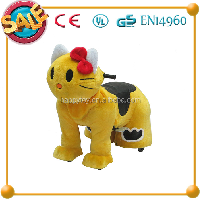 Hot!!! HI CE interesting kid riding animal plush electric walking horse toy for sale