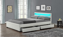 hot sale king size pu leather bed