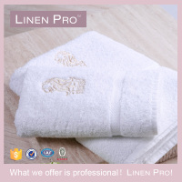 LinenPro Luxury Hotel Bath Towel Custom Embroidery 100 Cotton Hand Towel Terry for Ritz Carlton