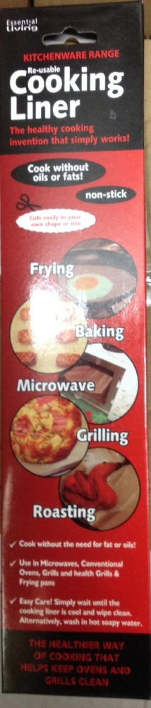 Re-Usable Non Stick Cooking Kitchen Liner. For Healthy Baking!!
