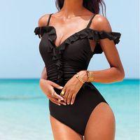 Bonvatt One Piece Swimsuit 2017 Plus Size Swimwear Women Vintage Retro Print Polka Dot 60S Unique Bathing Suits Beach Wear Swim