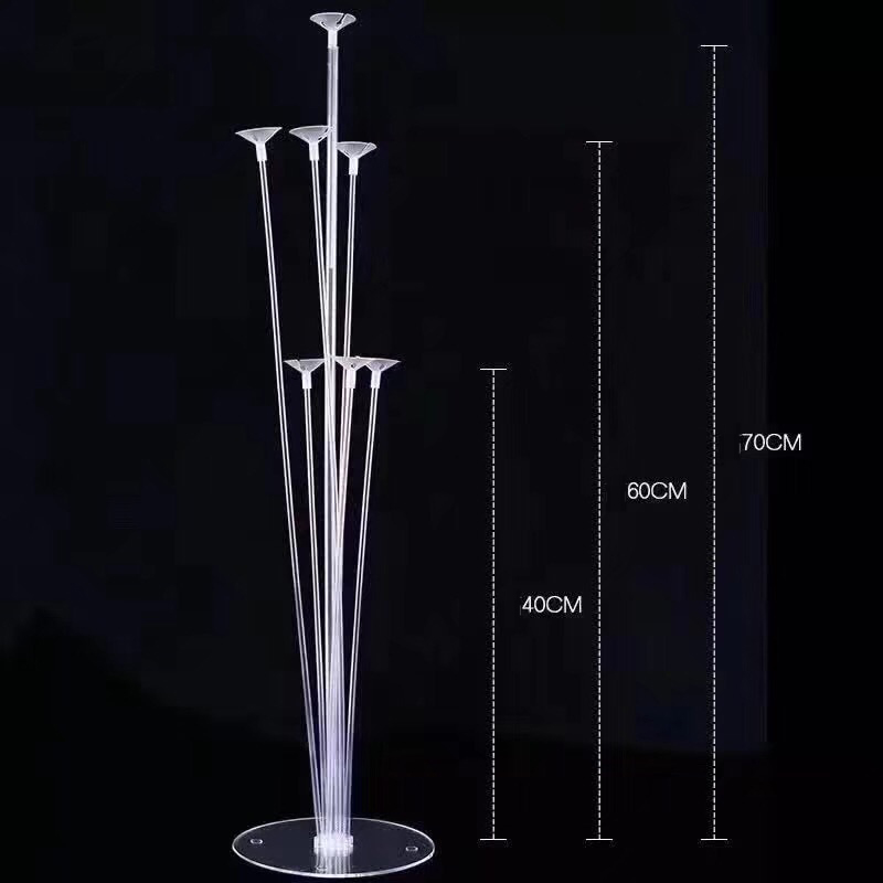 Table Balloon Stand for Party Decoration Balloon Bouquet Stand with Base White color Balloon Accessories For party Decor