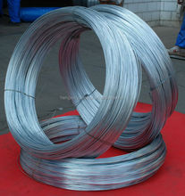 Hot dipped zinc coated galvanized steel wire