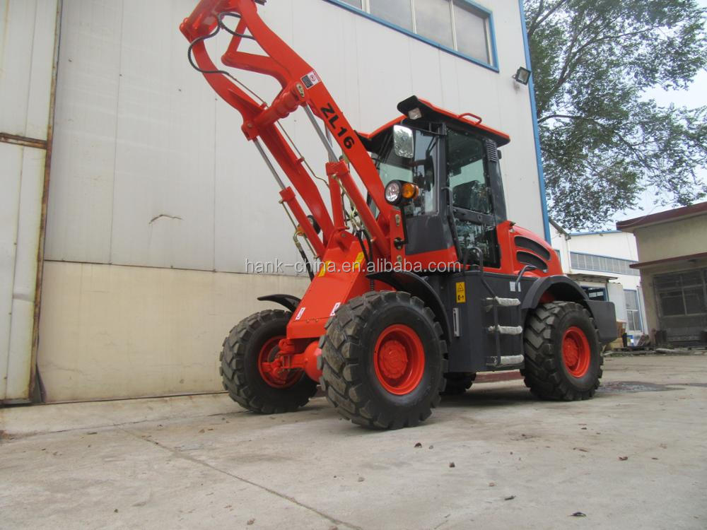 CE mark mini bulldozer 1.6 ton china wheel loader with bucket