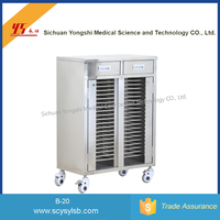 Stainless steel Medical Case History Trolley for record file