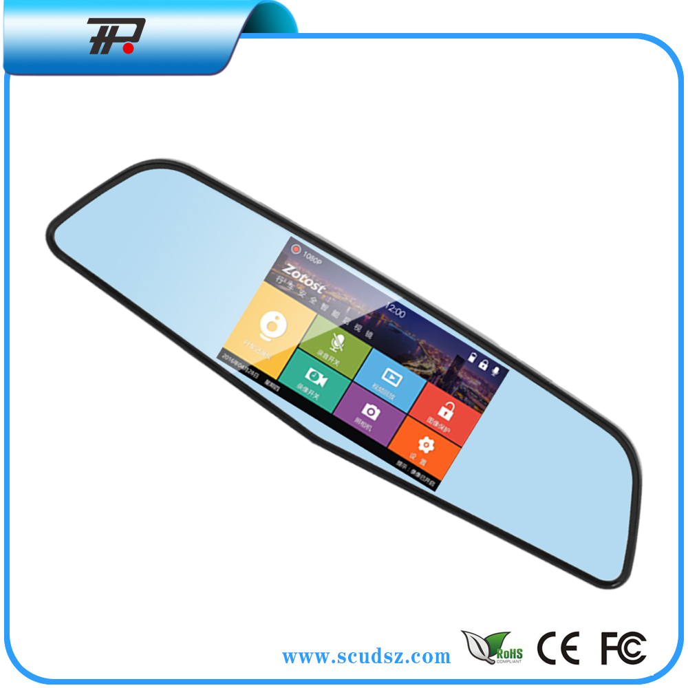 "New 5"" Car dvr Dual Lens Camera rear view mirror camera Video recorder 1080p vehicle rear view car video(X6)"