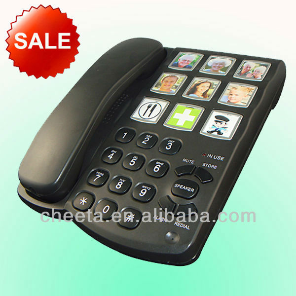 best selling big button picture phone for eldly