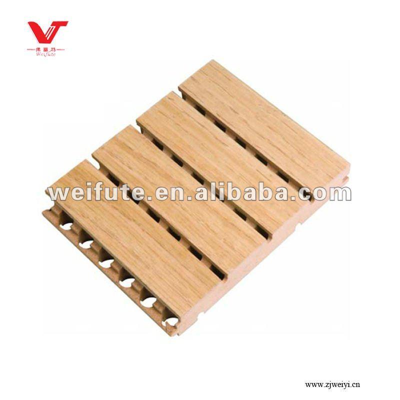 Scanalatura di legno pannello acustico pannelli - Quadri fonoassorbenti decorativi ...
