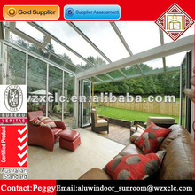 Customized elegant heat and noise insulated garden glass sunlight room/house for estate or family with low price