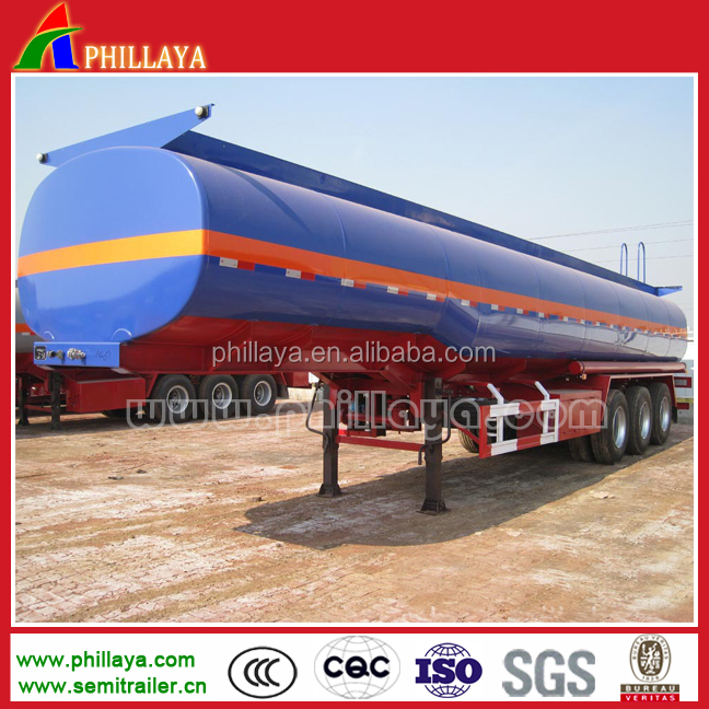 3Axle HCL tank plastic- lined steel chemical liquid tank semi trailer for NaOH