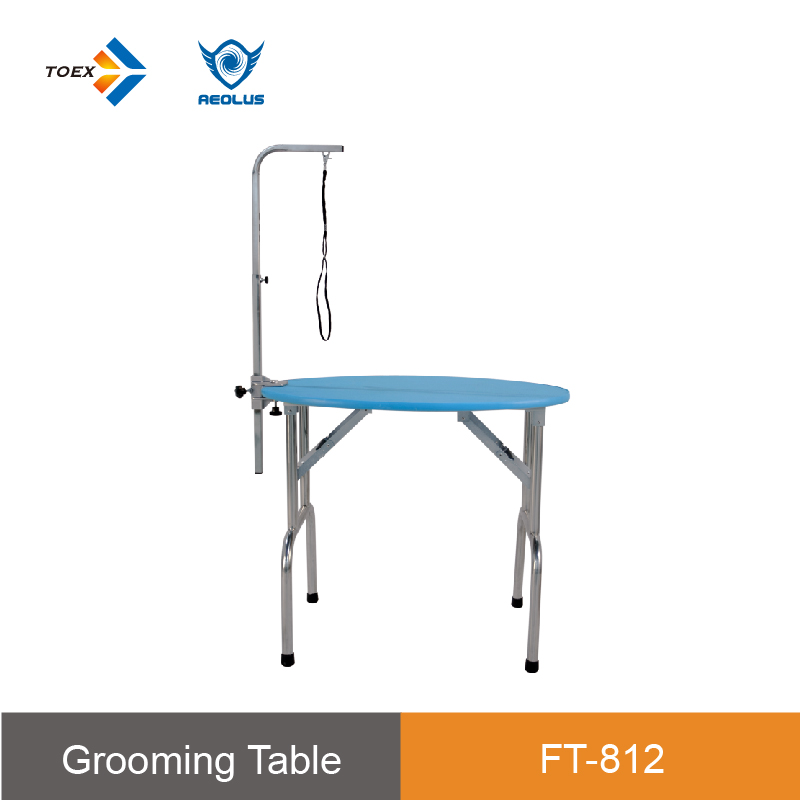 FT-811/812/813 dog grooming supplies Stainless Steel folding pet dog grooming oval grooming table