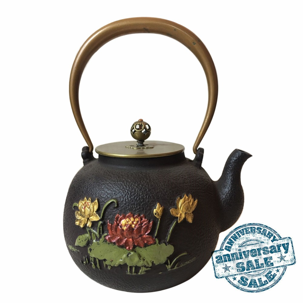 antique metal teapots