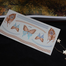 24k gold gold silver bronze tattoo stickers