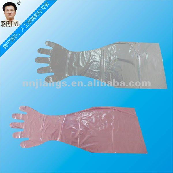 Jiangs disposable long sleeve glove with factory price