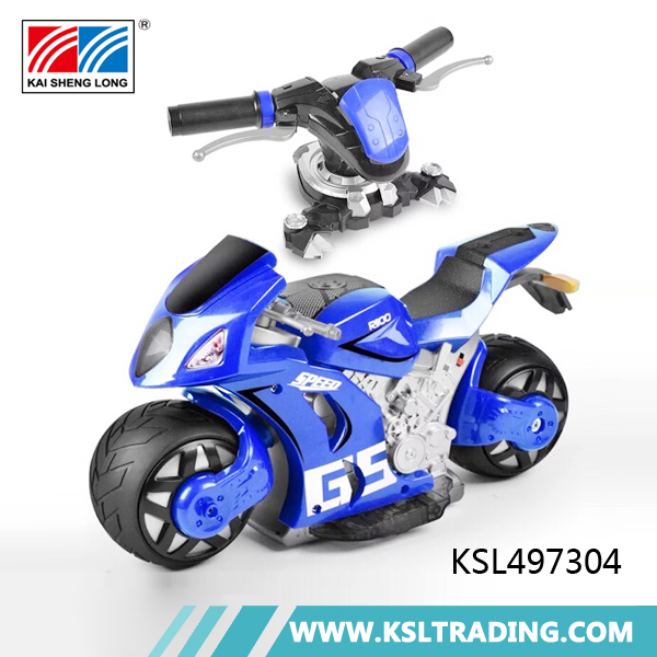 Novel design 1:8 scale 4D children rc toy motorcycle with usb