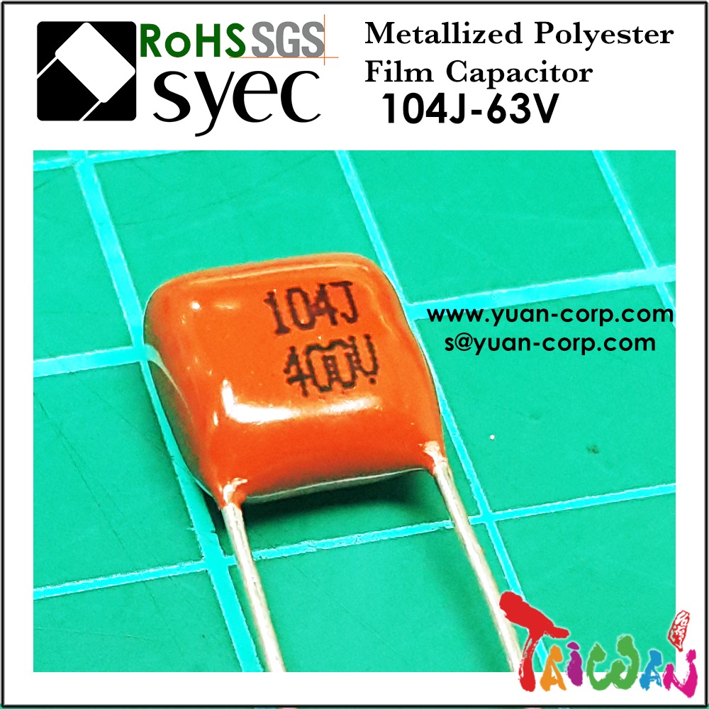 CL21 MEF Metallized Polyester Film Capacitor 104J 400V Capacitor