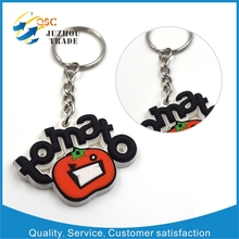 Debossed/3d promotional silicone key chain