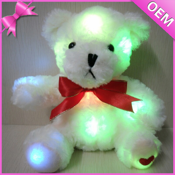 Hot Sale Fantastic Night light 7 Color Light Up Led Teddy Bear