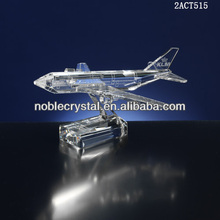 china manufacturer New design customized crystal airplane for gift