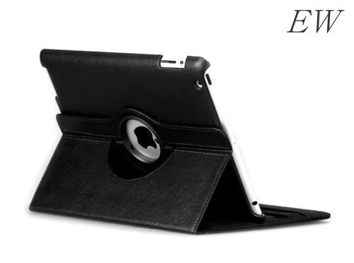 EW New product for ipad 2 3 4 roating 360 degrees leather case