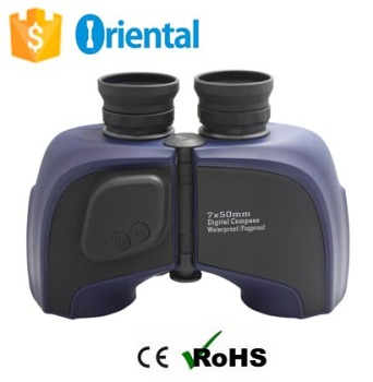 Waterproof Sport Binoculars 7x50 with digital compass,Outdoor New Binoculars +digital Thermometer +Gift box Made In China