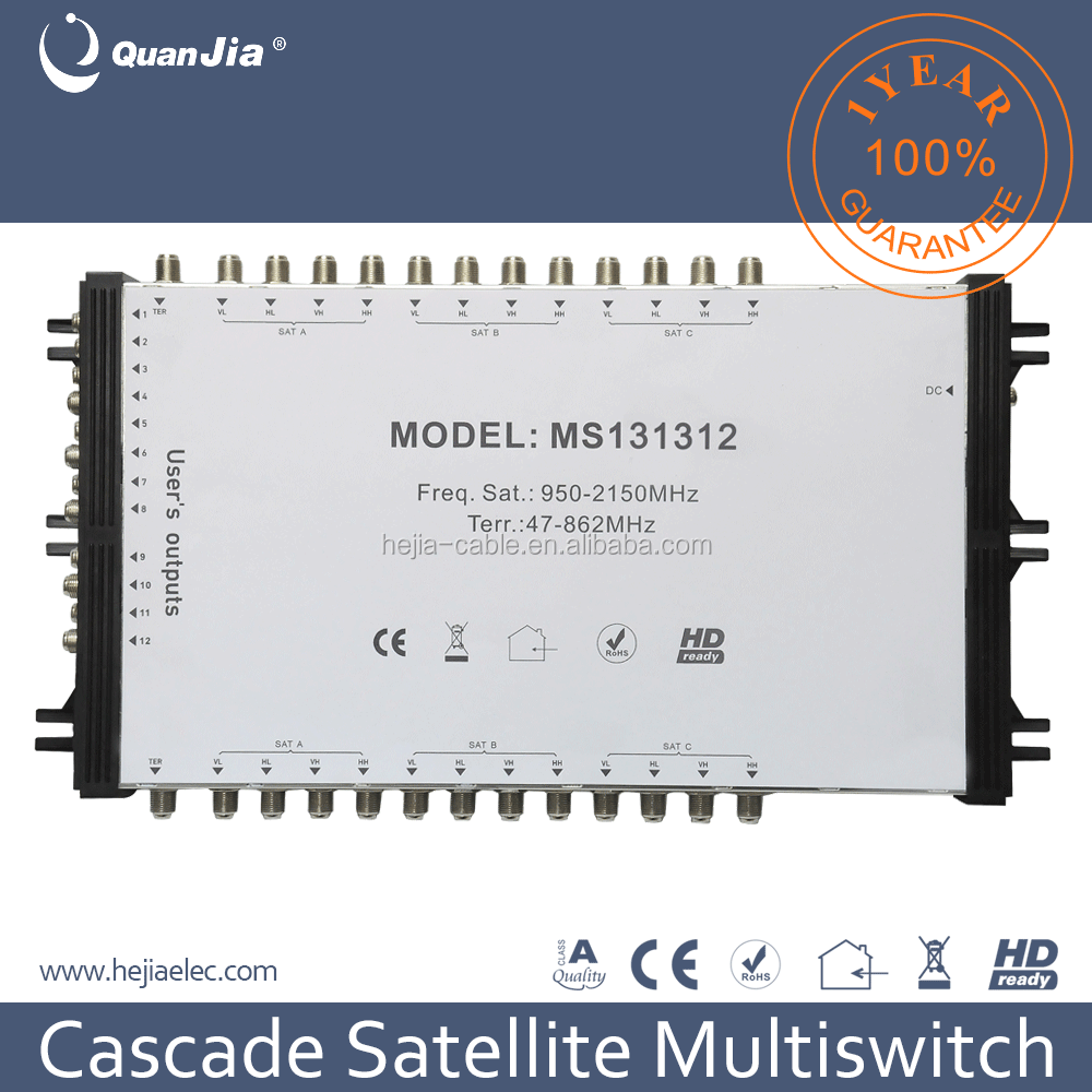 2017 New Product 13in 12 output Satellite Mutiswitch Cascade and DisEqC 2.0 signal Made in China