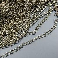Colored fashionable brass zipper chain