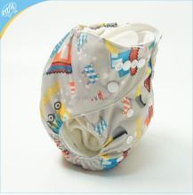 Baby colorful printed cloth diaper with PUL