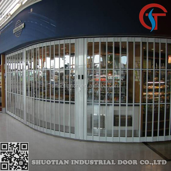 Commercial transparent aluminum folding shops doors