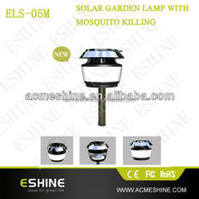 Patent rechargeable high voltage solar mosquito killer light for garden ,camping ,indoor use