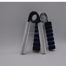 Metallic hand exerciser grip