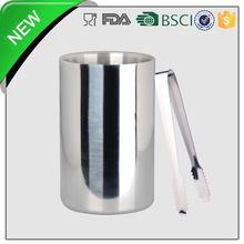 polished stainless steel ice bucket