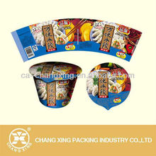 Printing laminated plastic packaging material for instant food packaging