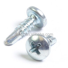low price white blue zinc beveled screw