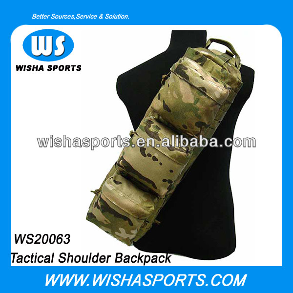 Multifunction High Density Nylon Military Shoulder Sling Bag Backpack For Women