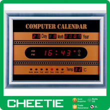 LED Electronic Digital Computer Calendar with Temperature