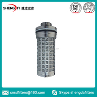 Hydraulic backflushing filter element for coal mine