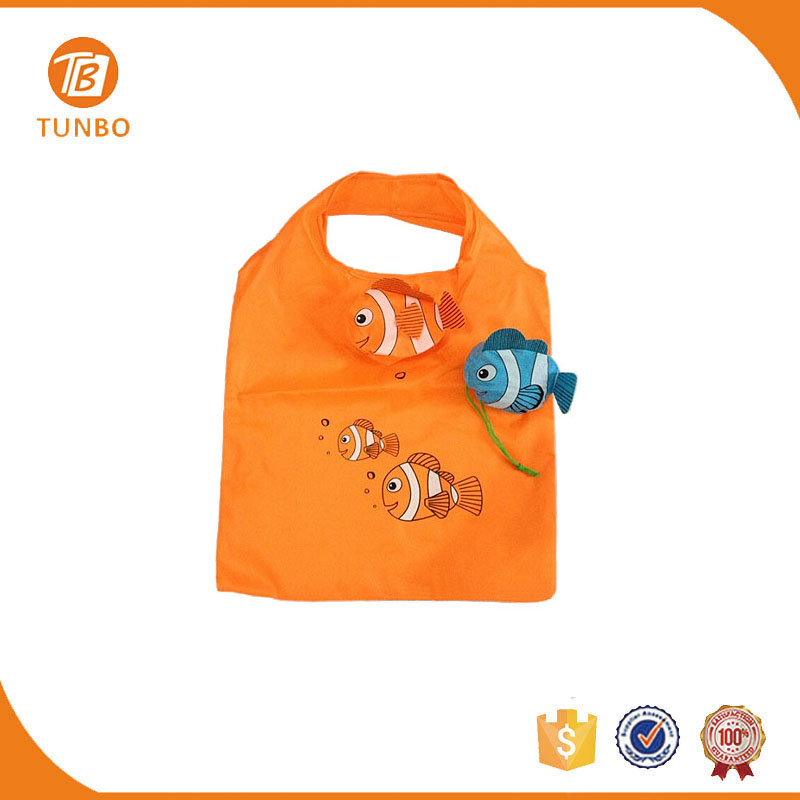 Wholesale cheap animal shaped folding shopping bags fish shopping bag