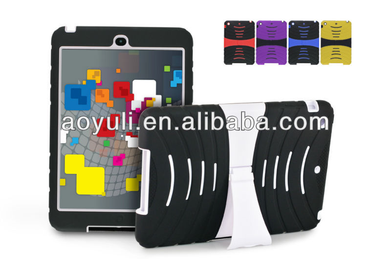 kickstand case for ipad mini 2, PC+ silicon phone case with high quality, for ipad mini 2 case