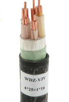 XLPE or PVC Insulation Material and Low Voltage Type 4 core 35mm2 copper cable