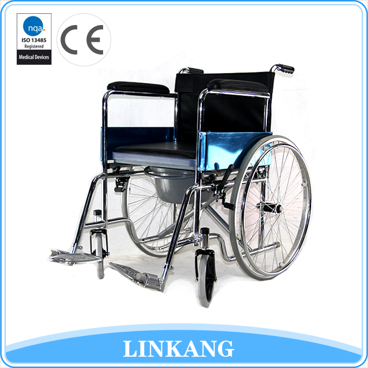 2017 New design handle brake hospital wheelchair