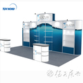 Detian Offer exhibition booth aluminium display promotions with reception desk counter