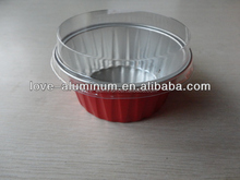 empty small personalized aluminum cup with plastic lid /ice cream/mooncake/pizza