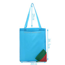 High Quality Customized Eco Storage Handbag Polyester Strawberry Foldable Shopping Reusable Tote Bag
